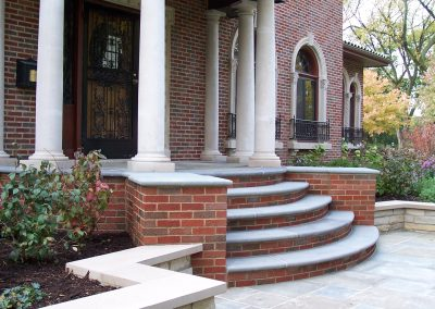 River Forest Bluestone Front Steps and Planter Walls