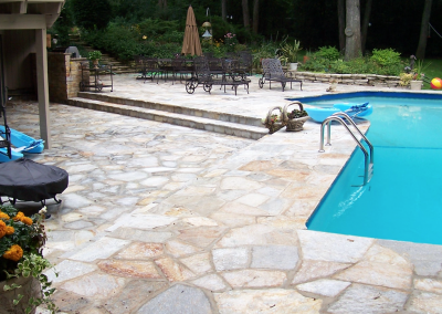 Natural-Stone-pool-deck-installation